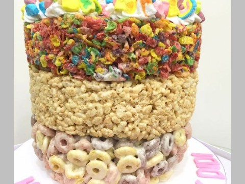 3 kinds of cereal cake