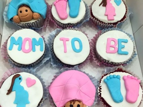 mom to be cupcakes
