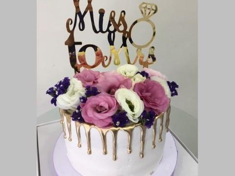 Classy engagement Cake