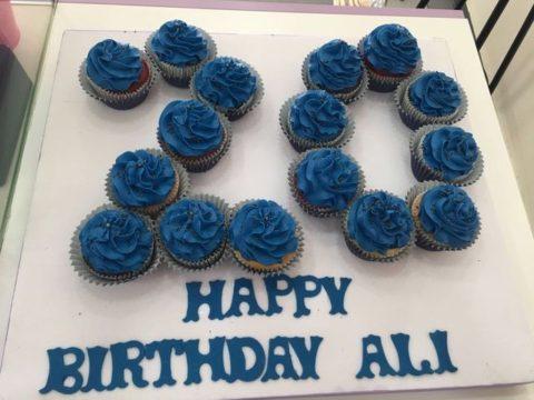 number shaped cake
