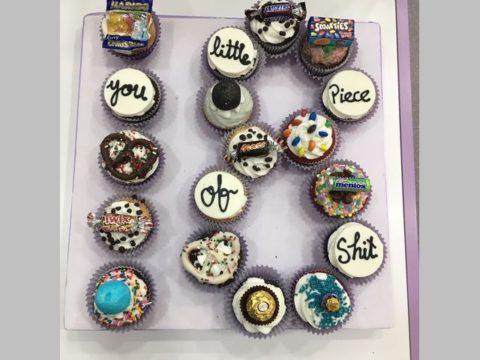 number shaped cupcake