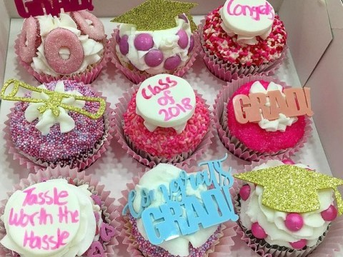 Girly Graduation Themed cupcakes