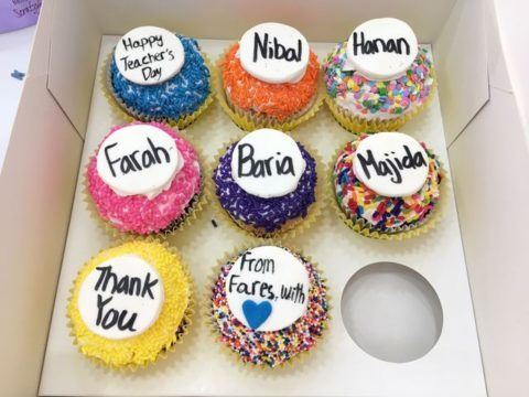 teacher's day cupcakes 5,000 each