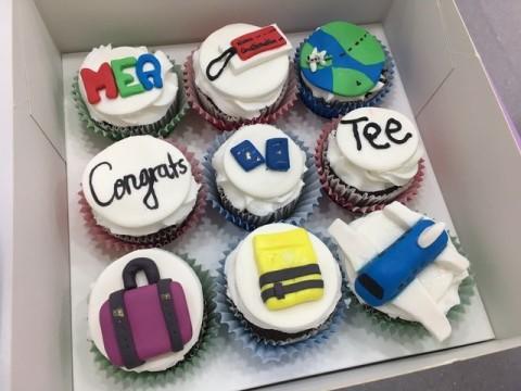 MEA customized cupcakes