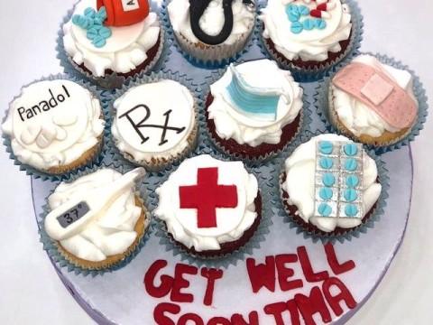 Medicine Themed cupcake board