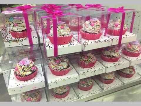 NYX turns 1 cupcake box
