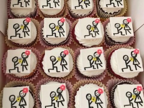 Proposal cupcakes