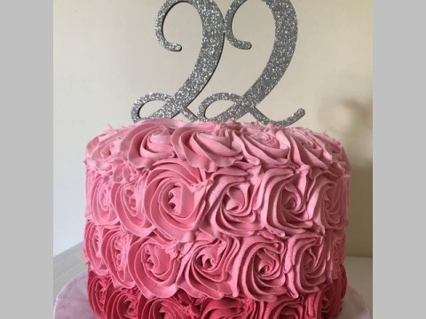 Shades of Pink Ombre Cake