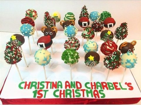 Christmas Cake Pops Board