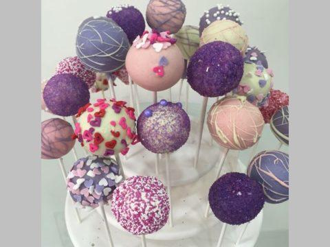 Violet Cake Pops