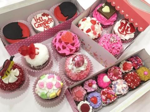 Butter cream valentine cupcakes