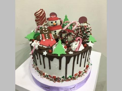 christmas toppings cake