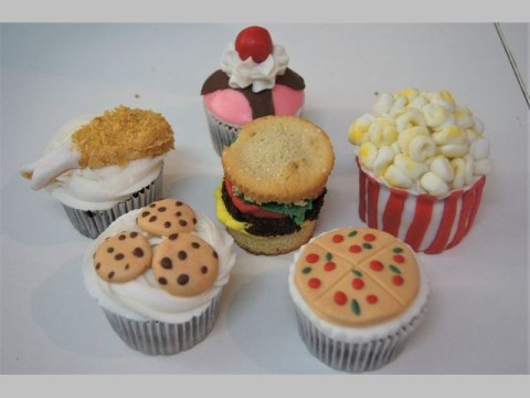 Food in disguise cupcakes