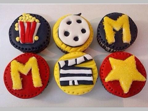 Movie star cupcakes