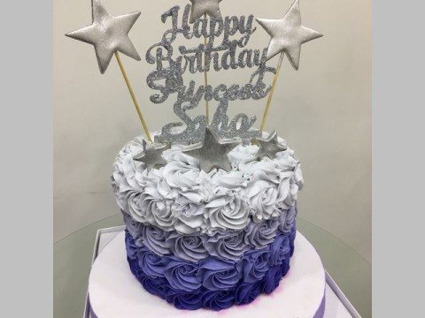 Ombre cake with stars