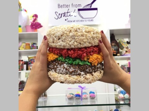 Rice krispy burger