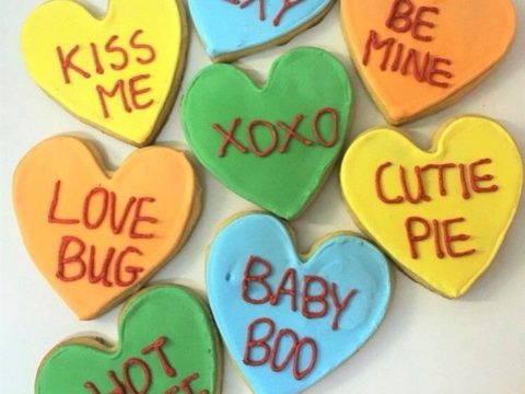 Conversation Heart Cookies 4,500 LL