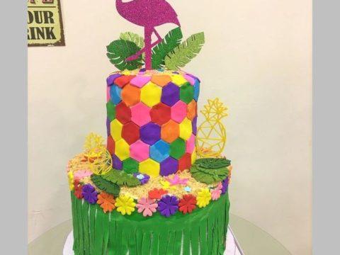 Flamingo Cake or Tropical Cake