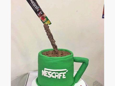 Nescafe Theme Cake
