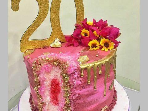 Pink Dripping Cake