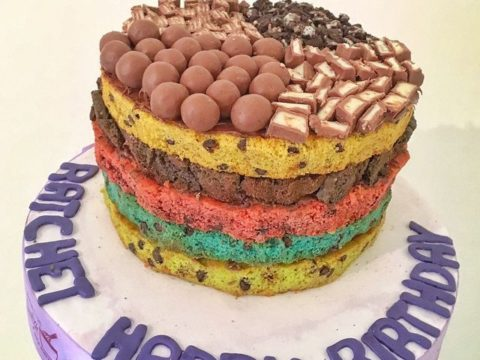 Stacked Rainbow Cookies with Pizza Cookie