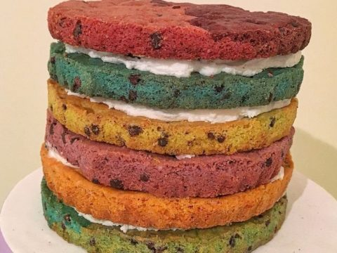 The 6 layer Stacked Rainbow Cookie