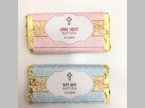 Baptism chocolate bars