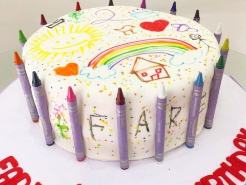 crayon cake theme