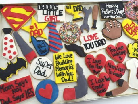 father's day cookies 4,500 LL each