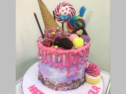 flipped cone cake