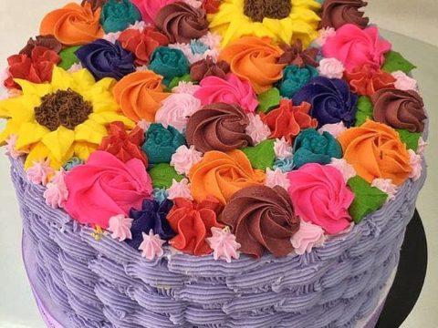 flower basket frosting