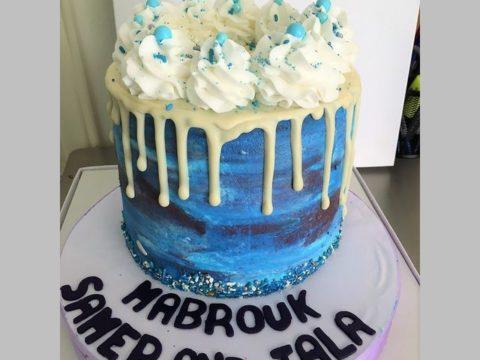 ice blue cake