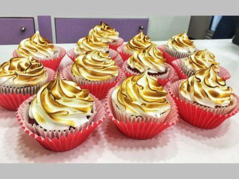 masrhamllow fluff cupcake
