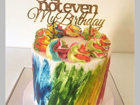 multi color cake