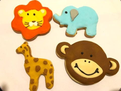 animal sugar cookies