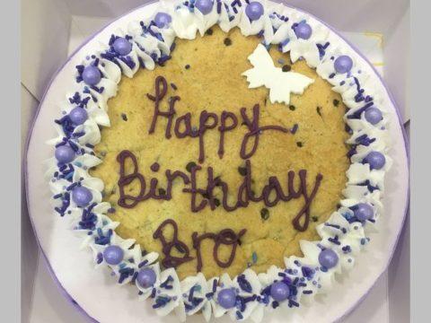 birthday giant cookie